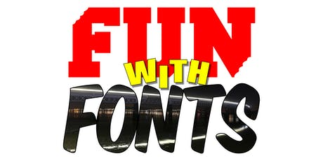 Fun with Fonts: How to use Inkscape (vector graphics) + Gimp (photo editor) tickets