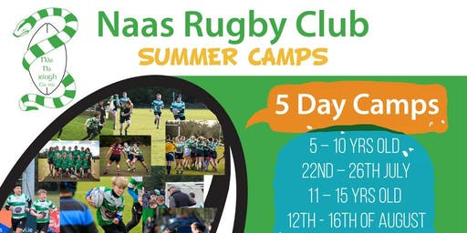 Naas Rugby Summer Camp 5 - 10 yrs