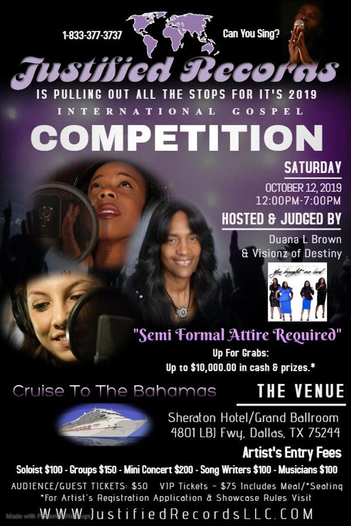 Justified Records International Gospel Competition Tickets, Sat, Oct