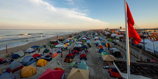 Seaside Heights Overnight Beach Camping - June 21