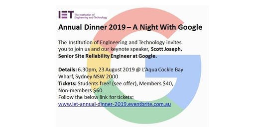 IET Annual Dinner 2019 - A Night With Google