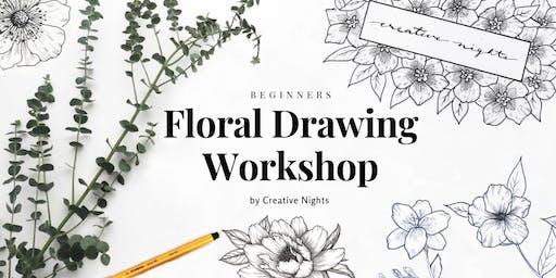 Floral Drawing Workshop - Creative Nights (Beginners)
