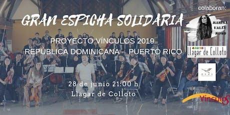 Espicha solidaria OCAS - Proyecto Vínculos 2019 entradas