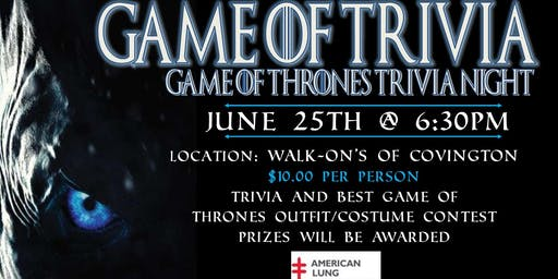 Game of Trivia: Game of Thrones Trivia Night