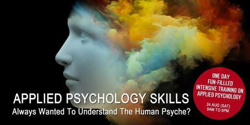 1-DAY APPLIED PSYCHOLOGY SKILLS BY DR. FRED TOKE  IN KOTA KINABALU