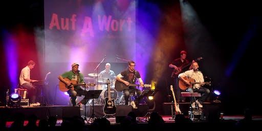 """STS-Weltklassiker - Sommer-Open-Air in den Neuen Gärten Waldsassen - mit der Band """"Auf A Wort"""" mit dem STS-typischen, authentischen, dreistimmigen Gesang"""