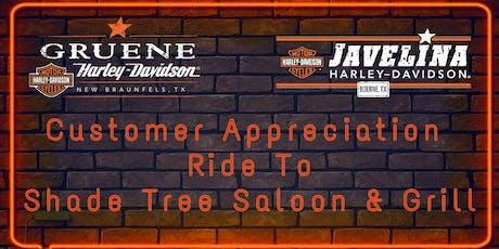 Annual Customer Appreciation Ride to Shade Tree Saloon tickets