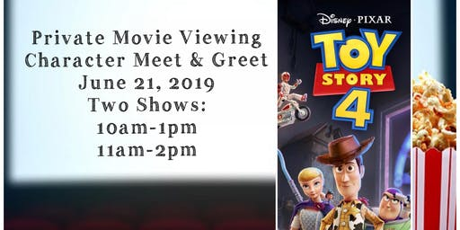 Toy Story 4 Movie Viewing and Character Meet