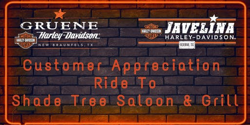 Annual Customer Appreciation Ride - Shade Tree Saloon