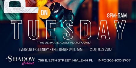 PLAY TUESDAYS @ SHADOW CABARET(FREE ENTRY+DINNER) tickets