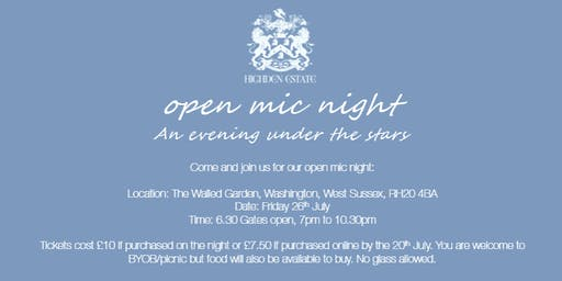 Walled Garden Open Mic Night
