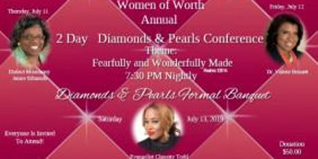 """Women of Worth 'Diamonds & Pearls"""" Conference & Banquet tickets"""