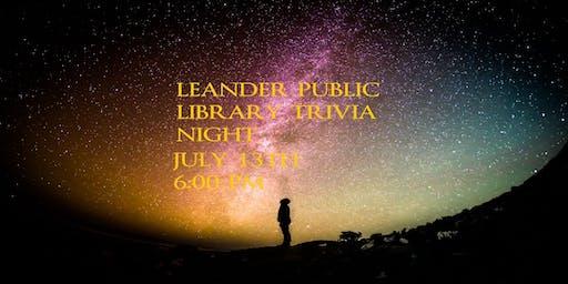 Leander Public Library Trivia Night