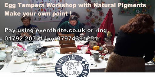 Egg Tempera Painting with Natural Materials
