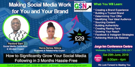 Making Social Media Work For You and Your Brand tickets