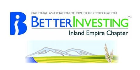 Inland Empire BetterInvesting 2019 Annual Education and Meeting Event tickets