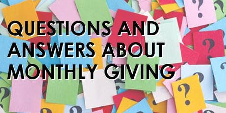 Jumpstart Your Monthly Giving Program: A panel discussion on local, effective programs tickets