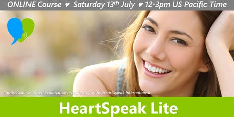 HeartSpeak Lite - 13 July 2019 - LIVE ONLINE tickets
