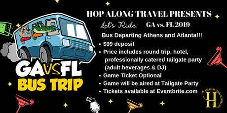 LET'S RIDE:  Bus Trip to GA vs FL 2019 - Game Day Nov 2, 2019 tickets