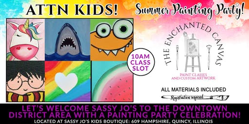 Paint Party at Sassy jo's Childrens Boutique 10AM