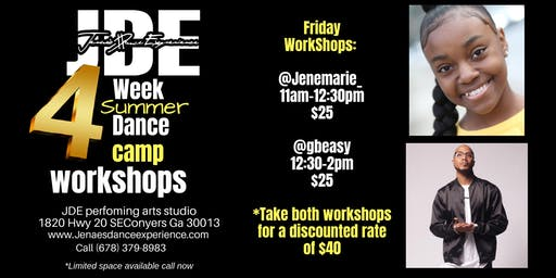 Jenae's Dance Experience Summer Intensive Friday workshops!