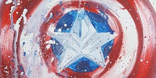 Family Paint Night-  Captain America