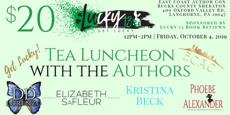 ECAC19 Lucky 13 Tea & Luncheon with the Authors tickets