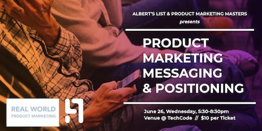 Product Marketing Messaging & Positioning Workshop