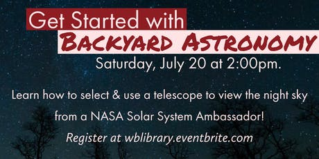 Get Started with Backyard Astronomy tickets
