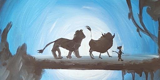 """""""Lion King""""- Family Paint Night at Kidz N Art"""