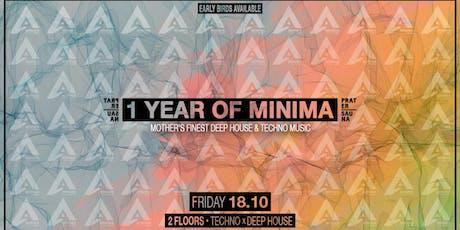 1 YEAR OF MINIMA   Pratersauna Tickets