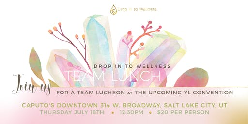 Drop In To Wellness Young Living Convention Team Lunch