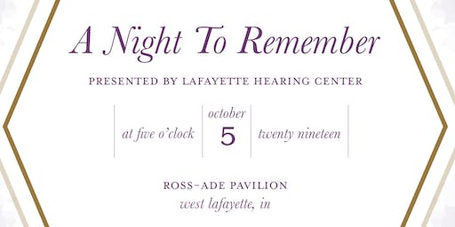 A Night to Remember - An Alzheimer's Benefit