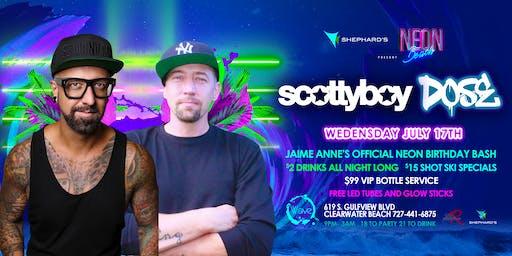 Scotty boy & Dj Dose Neon beach Wednesday's $2 drinks