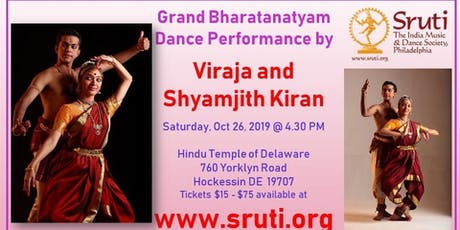 Grand Bharatanatyam Dance by Viraja and Shyamjith Kiran tickets