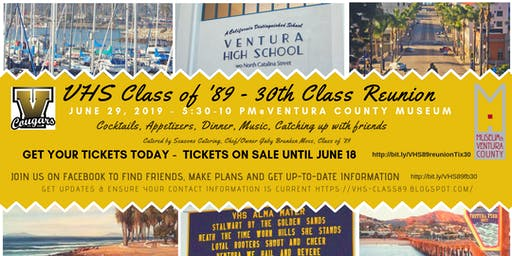 VHS Class of 89 - 30th Reunion