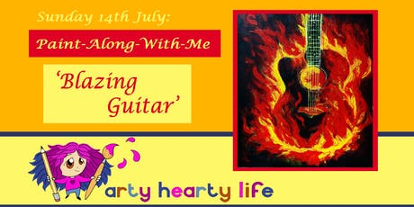 'Blazing Guitar' Paint-Along-With-Me @ YourSpace.Sutton tickets