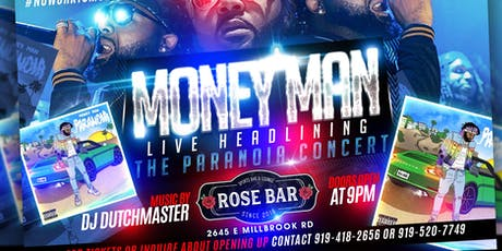 Unleash Ent Presents MONEY MAN live at ROSEBAR tickets