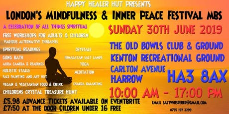 London's Mindful & Peacefullness Festival MBS tickets