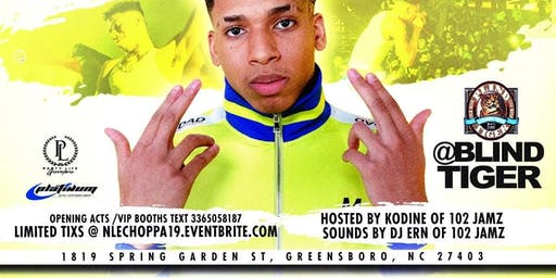 JUNE 25TH | NLE LIVE ON A TUESDAY @ BLIND TIGER 1819 SPRING GARDEN ST |