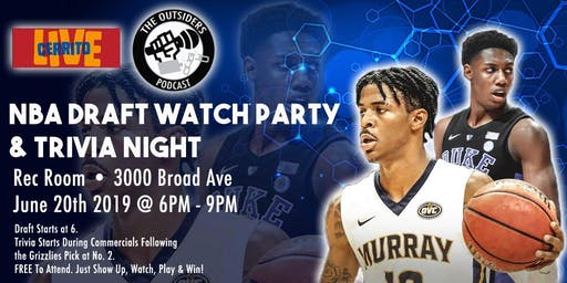 Grizzlies Trivia & Draft Watch Party at Rec Room