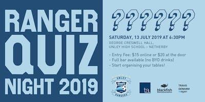 2019 Unley Rangers Quiz Night