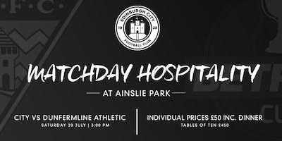 Match Sponsor - Edinbugh City Vs Dunfermline Athletic BetFred Cup Tie