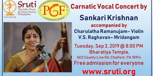 Sankari Krishnan - Carnatic Vocal Concert - Admission Free