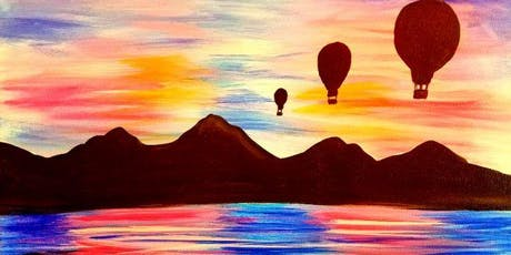 Paint Wine Denver Balloons at Sunset Sat July 27th 3pm $35 tickets