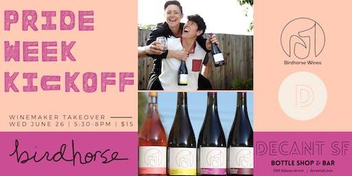 #PRIDE Week Kickoff with LGBTQ+ Winemaker Takeover: Birdhorse Wines!