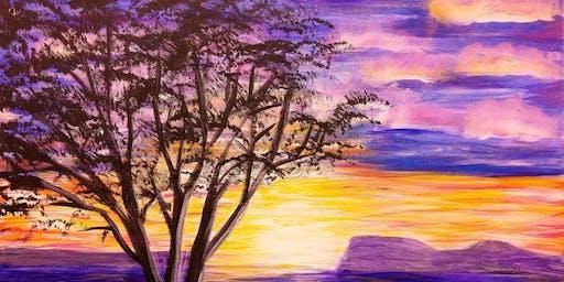 Paint Wine Denver Sunset Tree Sat July 20th 7pm $40