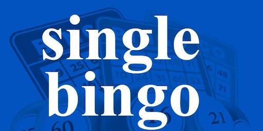 SINGLE BINGO SATURDAY SEPTEMBER 21, 2019