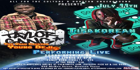 All For The Culture Presents Tisakorean & Young Deji Live In Concert  tickets