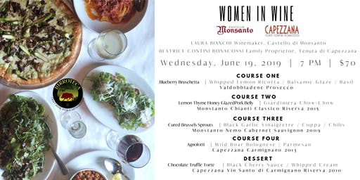 Women In Wine: An Evening with Monsanto & Capezzana Vineyards